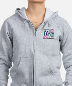 Means World To Me 1 Thyroid Cancer Shirts Zip Hoodie