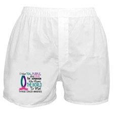 Means World To Me 1 Thyroid Cancer Shirts Boxer Sh