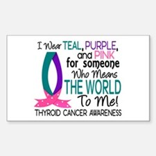 Means World To Me 1 Thyroid Cancer Shirts Decal