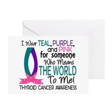 Means World To Me 1 Thyroid Cancer Shirts Greeting