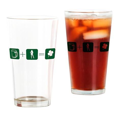 Beer + Girl = Lucky -- Drinking Glass