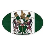 Rhodesia Flag Sticker (Oval 50 pk)