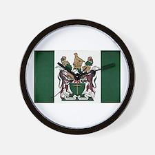 Rhodesia Flag Wall Clock