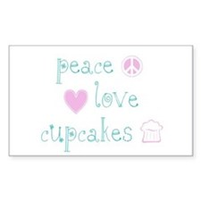 Peace, Love and Cupcakes Decal