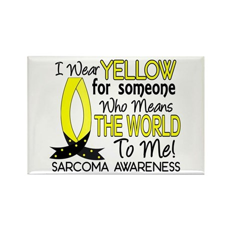 Means World To Me 1 Sarcoma Rectangle Magnet (10 p