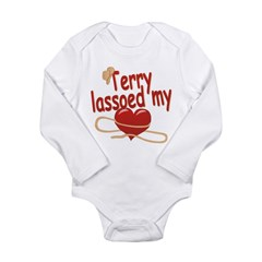 Terry Lassoed My Heart Long Sleeve Infant Bodysuit