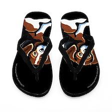Cute Tri-color Beagle Flip Flops