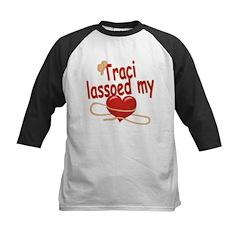 Traci Lassoed My Heart Kids Baseball Jersey