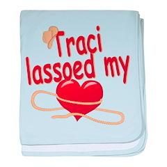 Traci Lassoed My Heart baby blanket