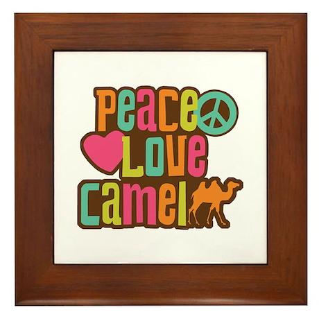 Peace love Camel Framed Tile