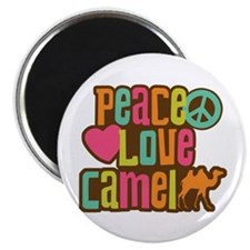 Peace love Camel Magnet