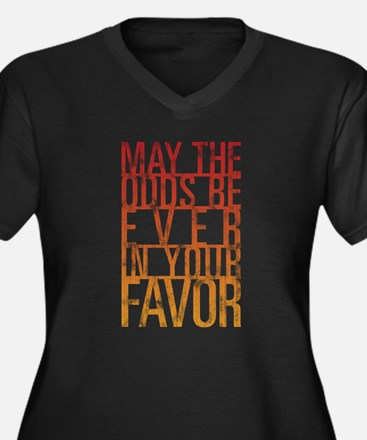 May The Odds Women's Plus Size V-Neck Dark T-Shirt