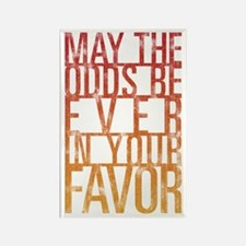 May The Odds Rectangle Magnet (100 pack)