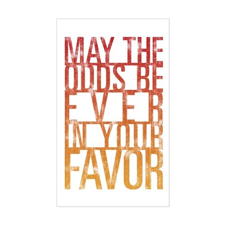 May The Odds Sticker (Rectangle)