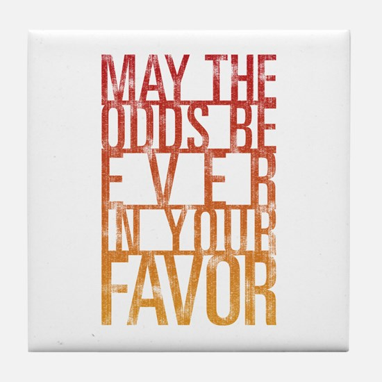 May The Odds Tile Coaster