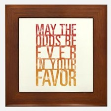 May The Odds Framed Tile