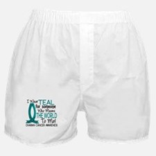 Means World To Me 1 Ovarian Cancer Shirts Boxer Sh