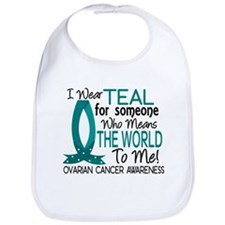 Means World To Me 1 Ovarian Cancer Shirts Bib