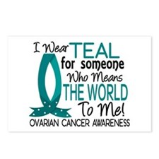 Means World To Me 1 Ovarian Cancer Shirts Postcard