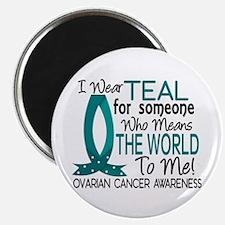 "Means World To Me 1 Ovarian Cancer Shirts 2.25"" Ma"