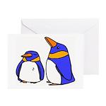 Cute Penguins Cartoon Greeting Cards (Pk of 10