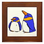 Cute Penguins Cartoon Framed Tile