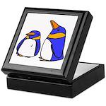 Cute Penguins Cartoon Keepsake Box