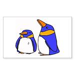 Cute Penguins Cartoon Rectangle Sticker