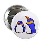 Cute Penguins Cartoon Button