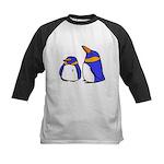 Cute Penguins Cartoon Kids Baseball Jersey