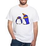 Cute Penguins Cartoon White T-Shirt