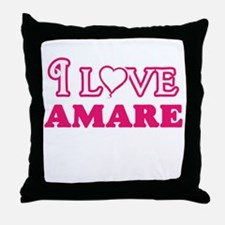 I Love Amare Throw Pillow