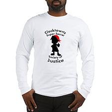 Clocktown Bomber Red Long Sleeve T-Shirt