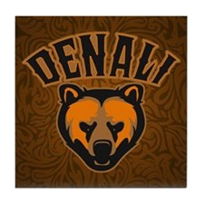 Denali Bear Face Tile Coaster