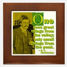 Great Things From The Valley Framed Tile