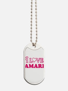 I Love Amari Dog Tags