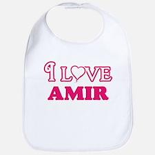 I Love Amir Baby Bib