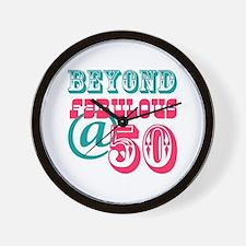Beyond Fabulous 50th Birthday Wall Clock
