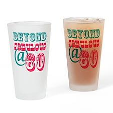Beyond Fabulous 60th Birthday Drinking Glass