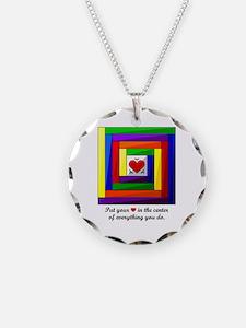 Quilt Square Necklace