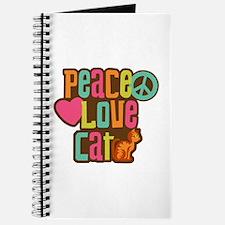 Peace Love Cat Journal