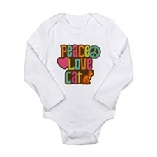 Peace Love Cat Long Sleeve Infant Bodysuit