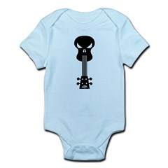 Skull Ukulele Infant Bodysuit