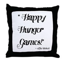Happy Hunger Games Throw Pillow