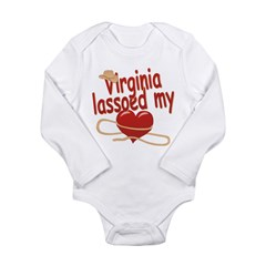 Virginia Lassoed My Heart Long Sleeve Infant Bodys
