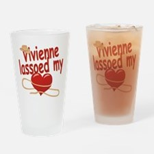 Vivienne Lassoed My Heart Drinking Glass