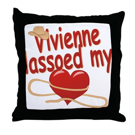Vivienne Lassoed My Heart Throw Pillow