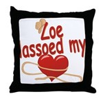 Zoe Lassoed My Heart Throw Pillow