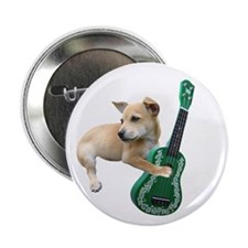 "Dog Playing Ukulele 2.25"" Button"