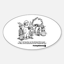 Paralegal In Oz Sticker (Oval)